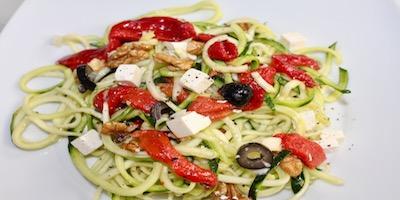 Ensalada de espaguetis de calabacín