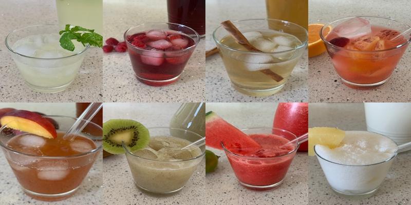 Bebidas refrescantes y sanas para el verano